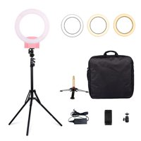 """Zimtown 12"""" Upgrade LED Photography Ring Light Dimmable Lighting Photo Video Stand Pink"""