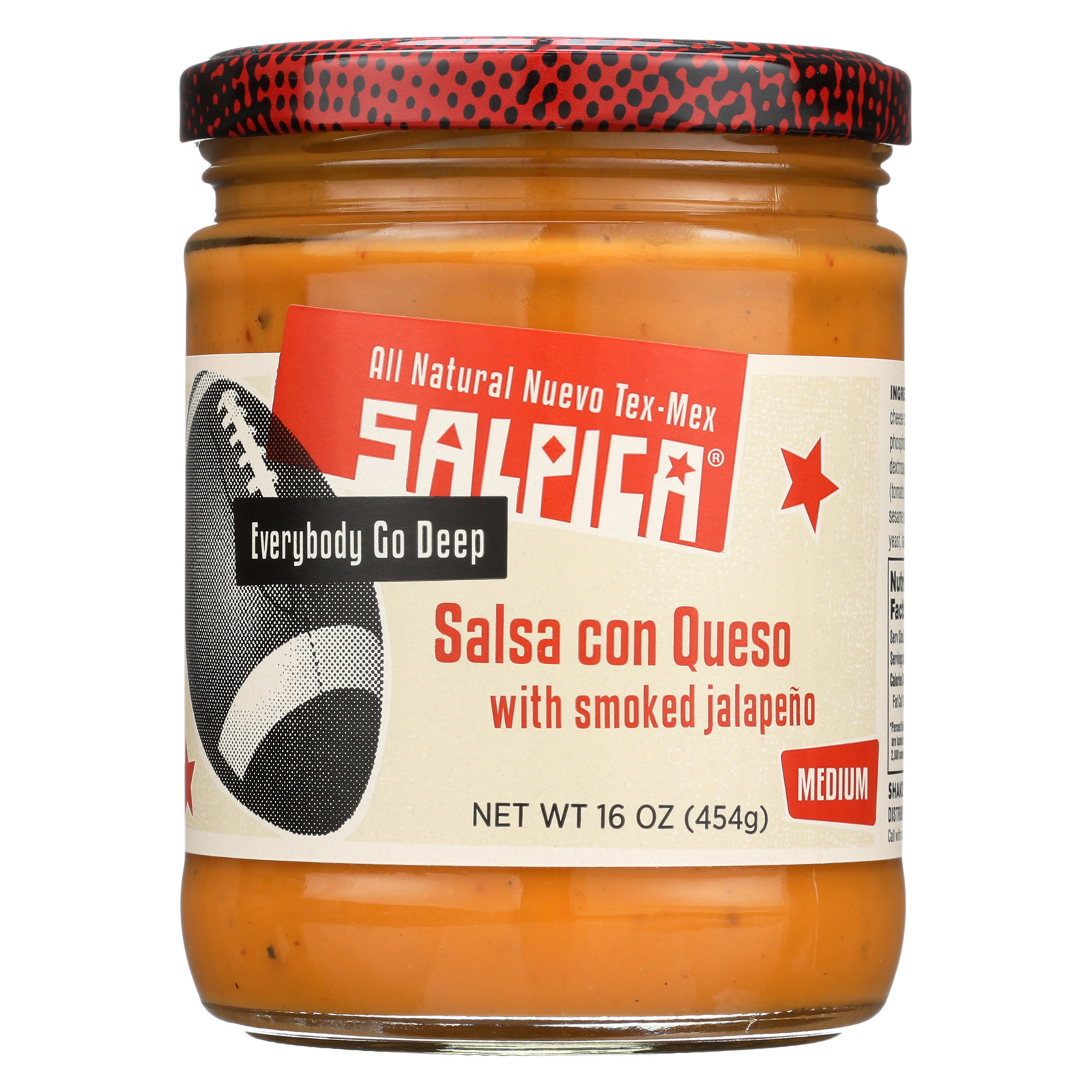 Salpica Salsa - Con Queso Dip - Case of 6 - 16 oz.
