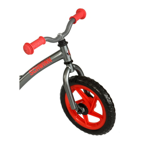 Schwinn Skip 2 Balance Bike for Learning to Ride, 12-inch wheels, ages 2 - 4, Graphite / Red