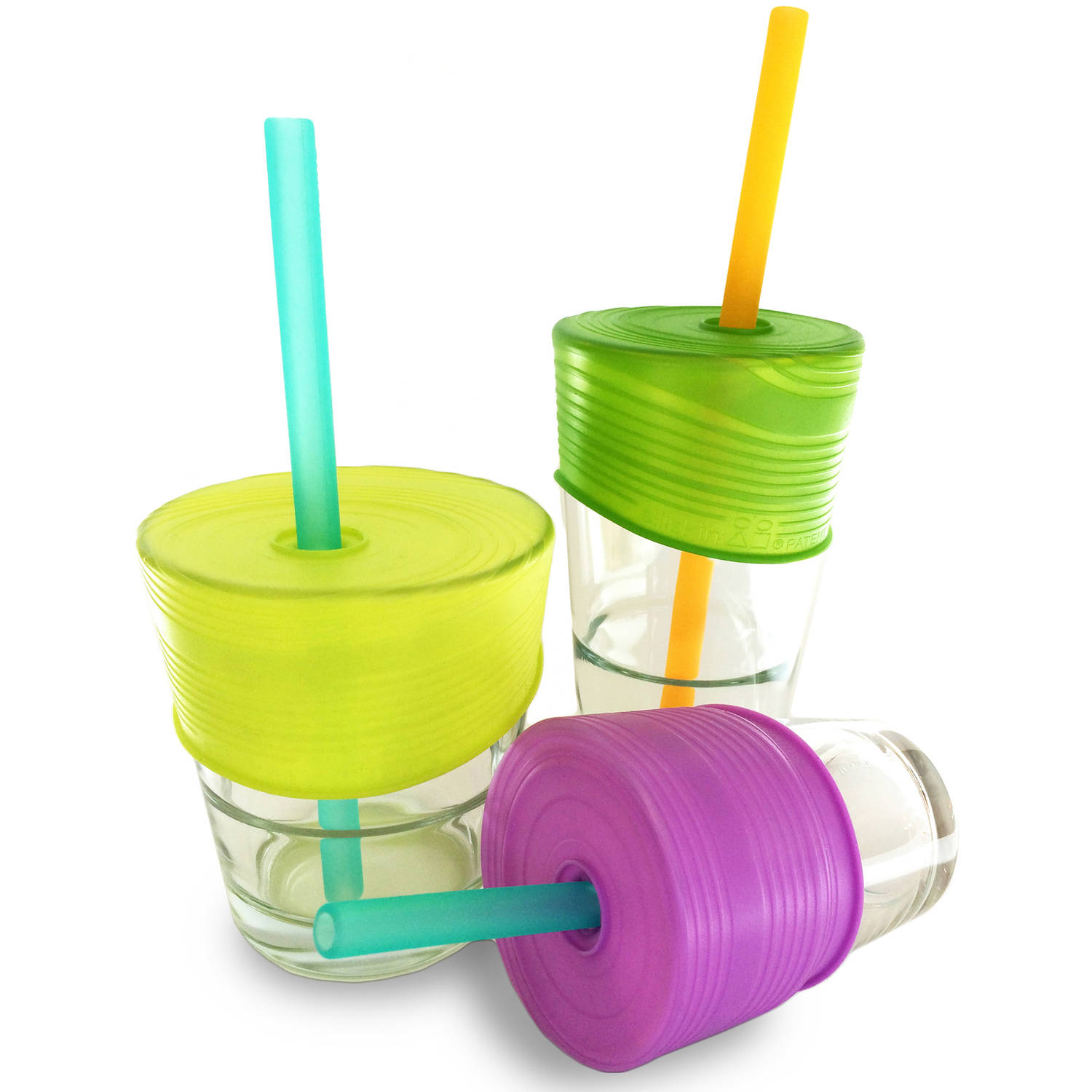 Siliskin Straw Lids for Sippy Cups - Silicone, 3 pack