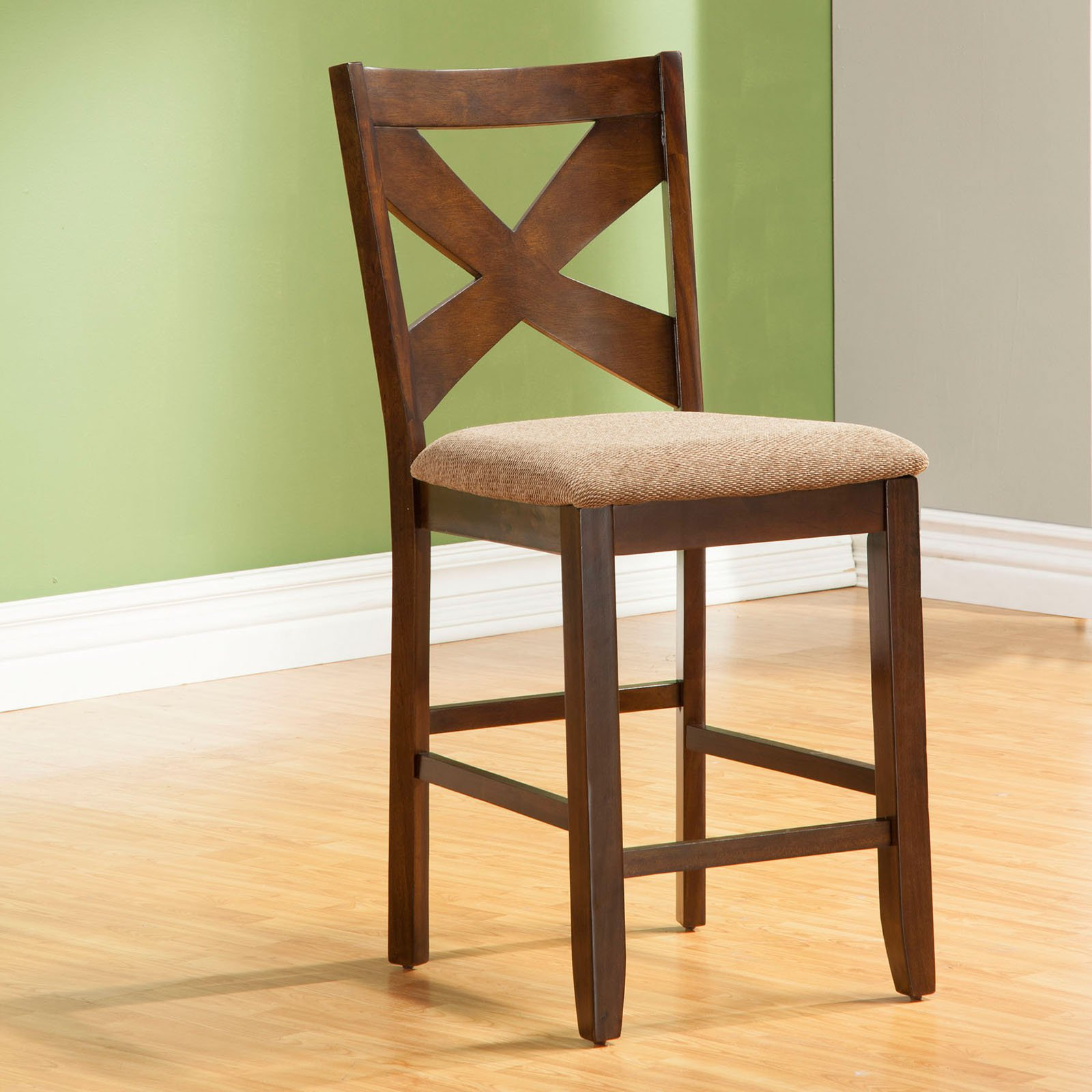 Ordinaire Alpine Furniture Albany Counter Height Chairs   Dark Oak   Set Of 2    Walmart.com