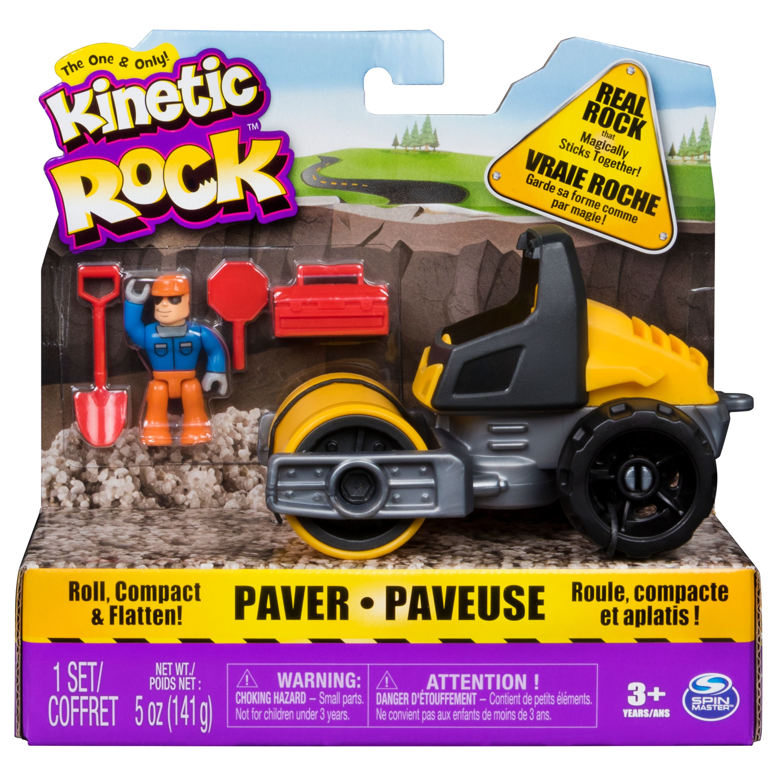 Kinetic Rock - Vehicle Paver Toy Kit with 5oz of Kinetic Rock, for Ages 3 and Up