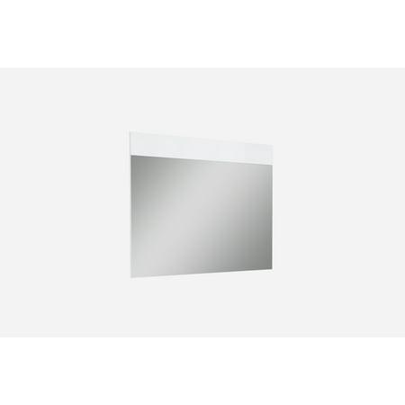 Whiteline Modern Living White Diva Contemporary Oak Rectangle Mirror, Ready To Hang ()