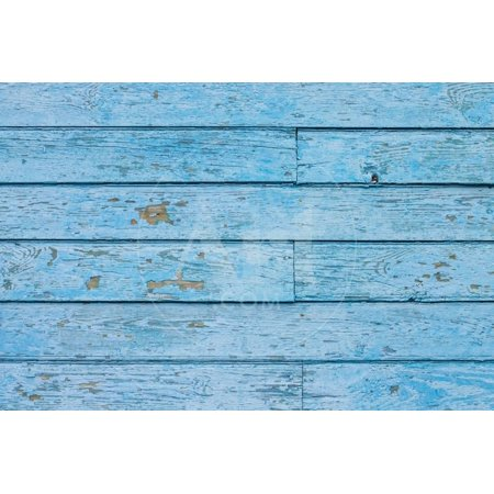 Weathered Plank - Texture of Blue Hipster Color Wood Panel. Old Shabby Painted Weathered Plank Print Wall Art By serkus