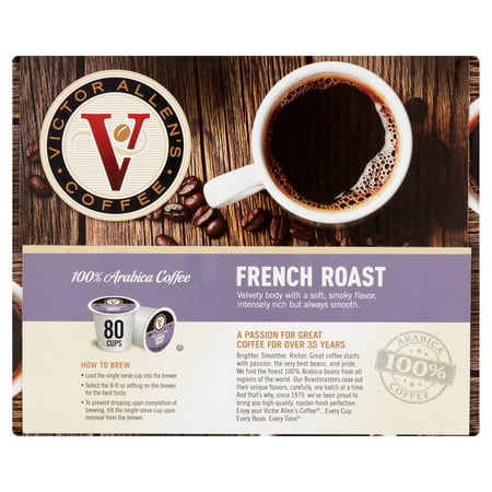 Victor Allens Coffee French Dark Roast Coffee  0 35 Oz  80 Count