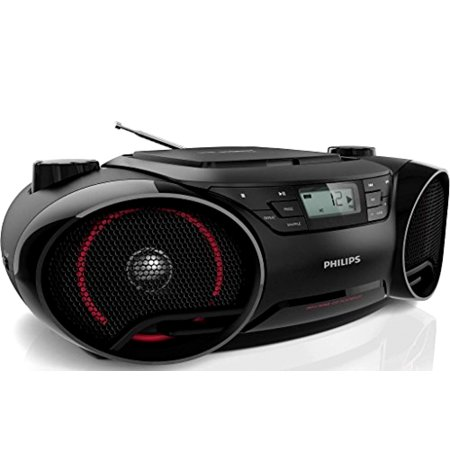 Philips AZ3811 Portable Boombox MP3 CD Player AM/FM Radio Stereo Speaker System ()