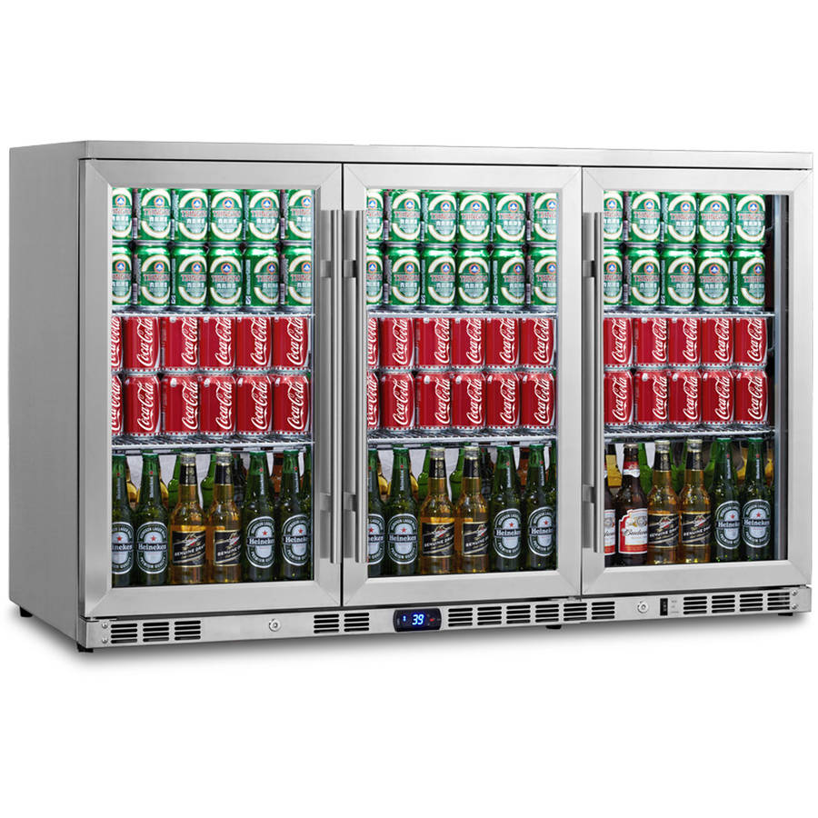 260-Can Stainless Steel Beverage Fridge