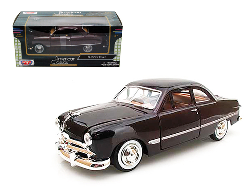 1949 Ford Coupe Burgundy 1 24 Diecast Model Car by Motormax by Motormax