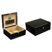 Best Cigar Humidors - Onyx Desktop Cigar Humidor - High Gloss Black Review