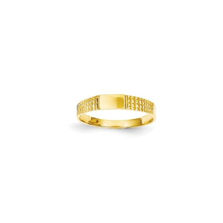 14k Yellow Gold Baby Signet Wedding Ring Band Size 3.25 Fine Jewelry For Women Gift