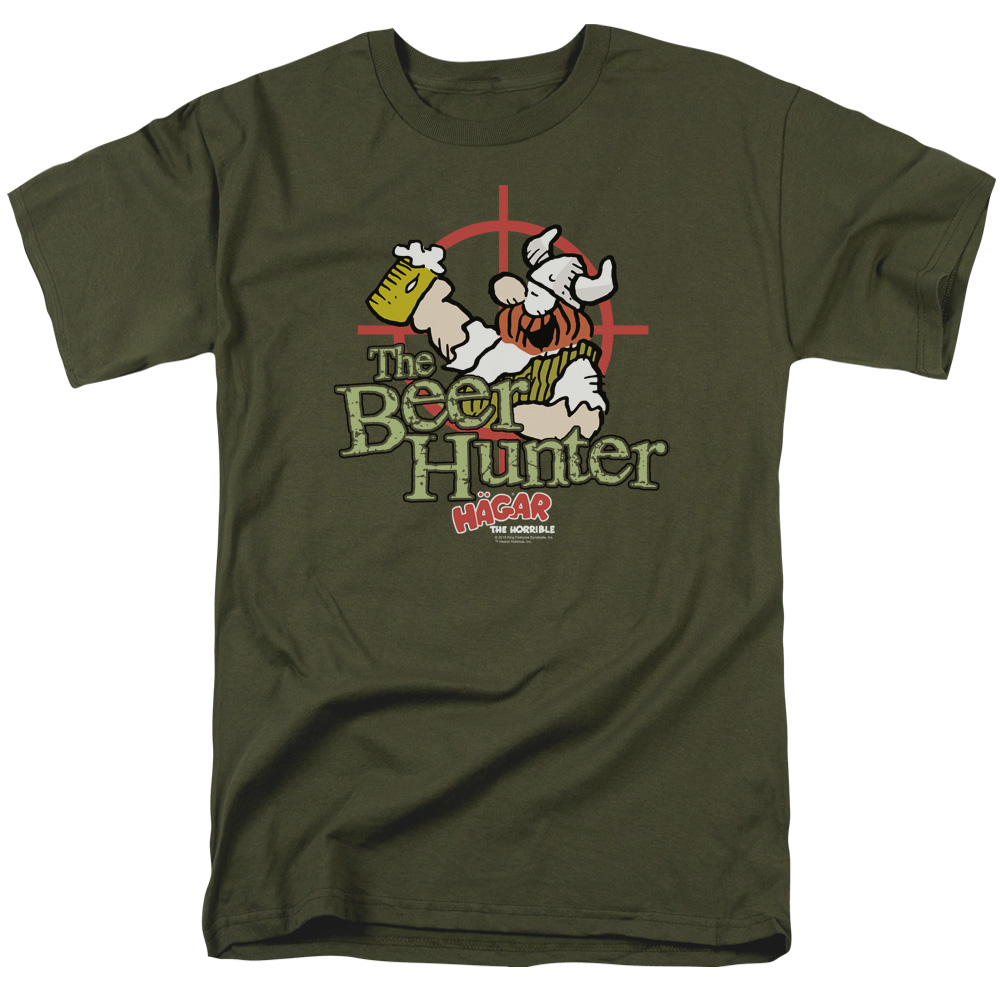 Hagar The Horrible Beer Hunter Mens Short Sleeve Shirt