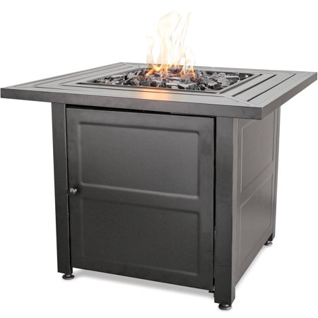 Endless Summer LP Firepit with Steel Slat Table