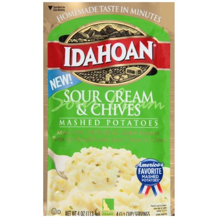 Idahoan, Mashed Potatoes, Sour Cream & Chives (Sour Cream Potatoes)