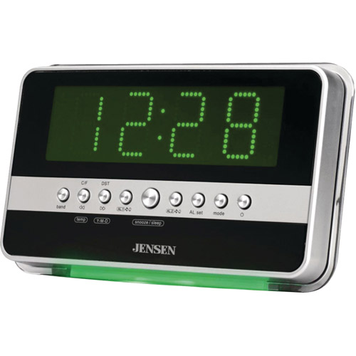 JENSEN JCR-275 AM/FM Dual Alarm Clock Radio with WaveSensor