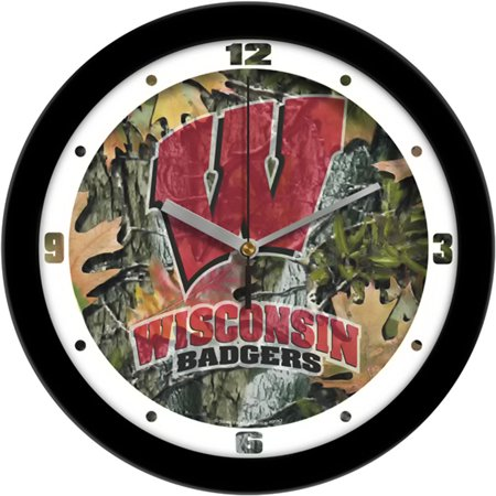 - Wisconsin Badgers NCAA Wall Clock (Camo)