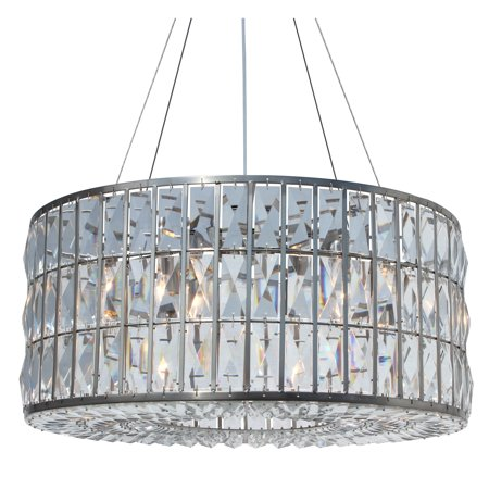 LightUpMyHome The Monroe Round Clear Crystal Chandelier, Brushed Nickel Finish - N/A Monroe Square Chandelier
