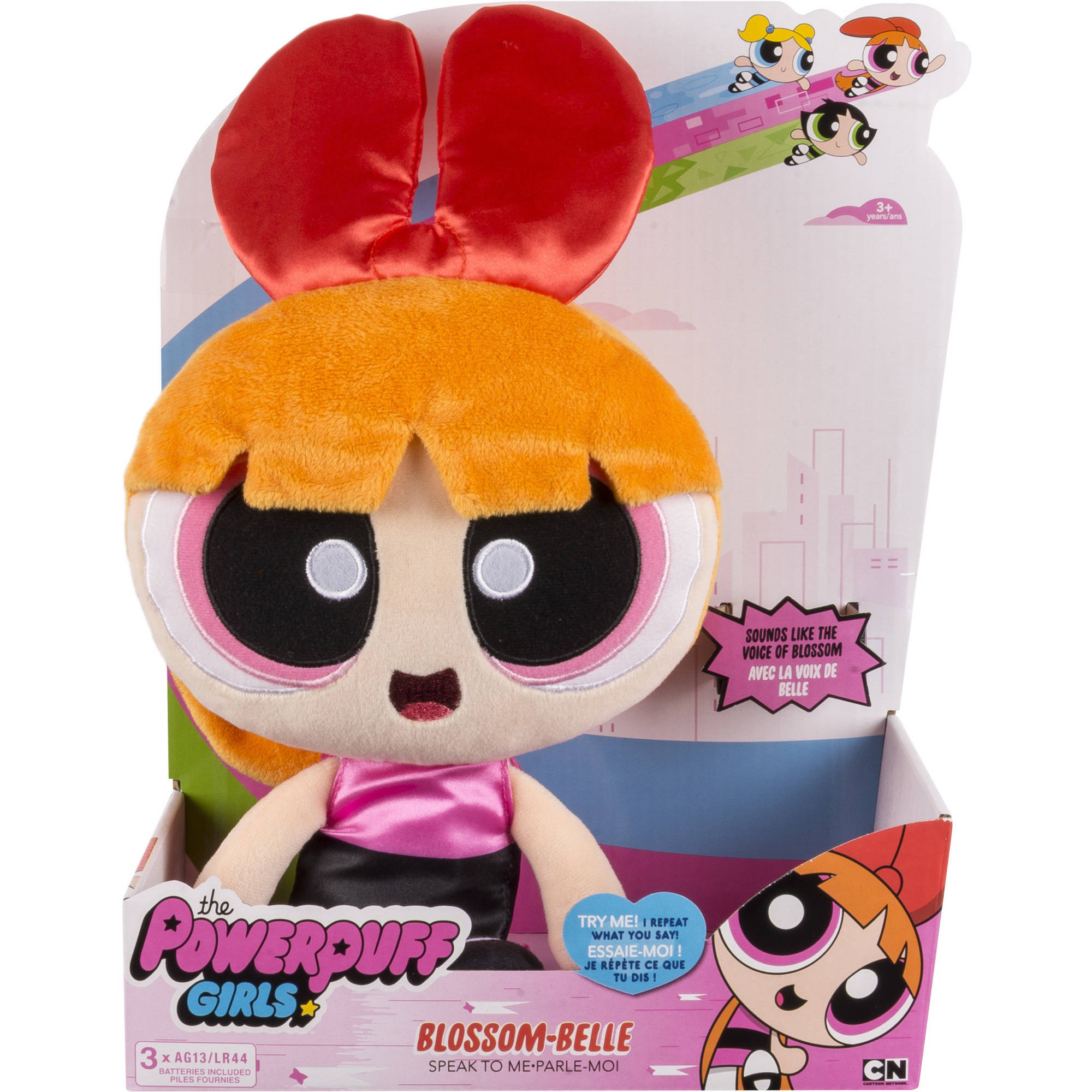 The Powerpuff Girls Interactive Plush With Voice Recording Mode