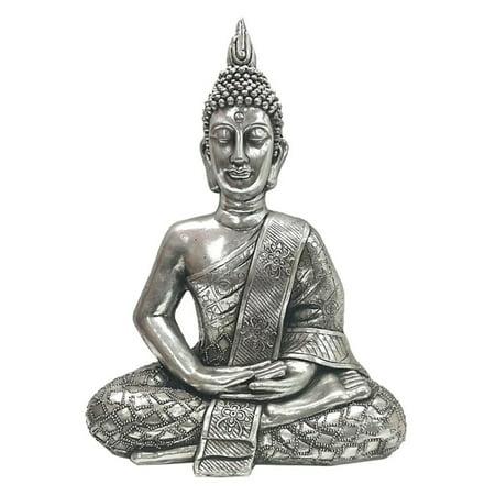 Three Hands 24 in. Resin Sitting Buddha Statue (Sitting Buddha)