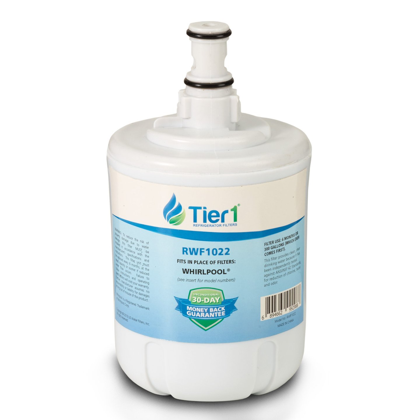 Tier1 8171413 Replacement for Whirlpool 8171413, Kenmore 9002, EDR8D1, 469002, 8171414 Refrigerator Water Filter
