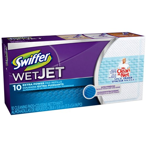 Swiffer Wet Jet Extra Power Cleaning Pad Refills, 10 count