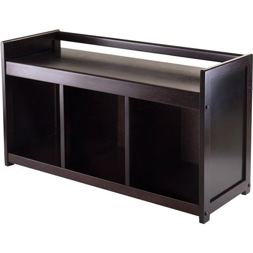 Espresso Foyer Bench : Addison entryway storage bench espresso walmart
