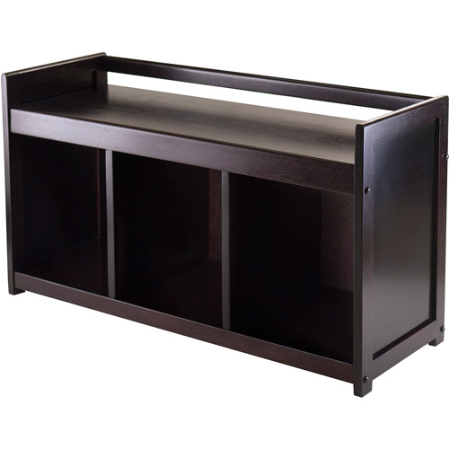 Winsome Wood Addison Entryway Storage Bench, Espresso