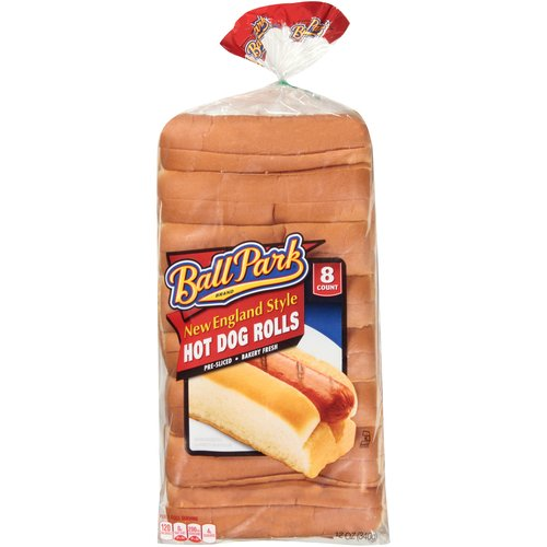 Ball Park New England Style Hot Dog Rolls, 8 Count, 12 Oz