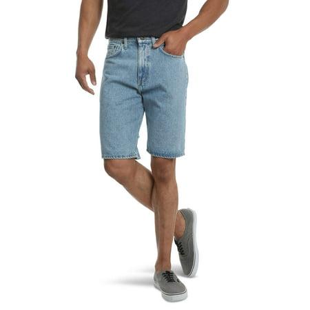 Wrangler Men's 5 Pocket Denim Short, Relaxed Fit