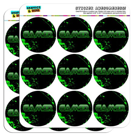 Gamer Sticker (Gamer Paint Splatter Gaming Geek 2