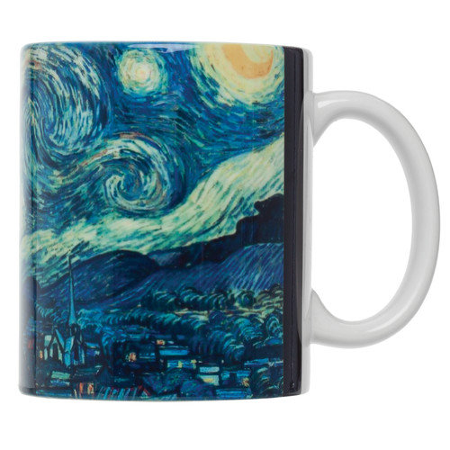 HAROLD IMPORT COMPANY Vincent Van Gogh Starry Night Fine Art Coffee Tea Mug (Set of 4)
