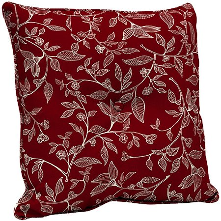 Better Homes And Gardens Floral Outdoor Deep Seat Back Cushion Red Toile