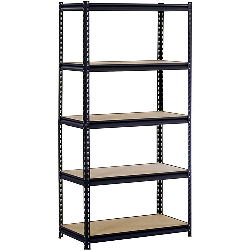 "Muscle Rack 36""W x 18""D x 72""H Five-Shelf Steel Shelving, Black"