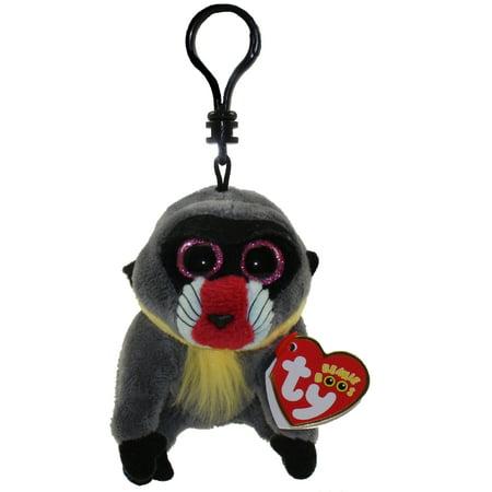 TY Beanie Boos - WASABI the Baboon (Glitter Eyes) (Plastic Key Clip) - Ty Keychains