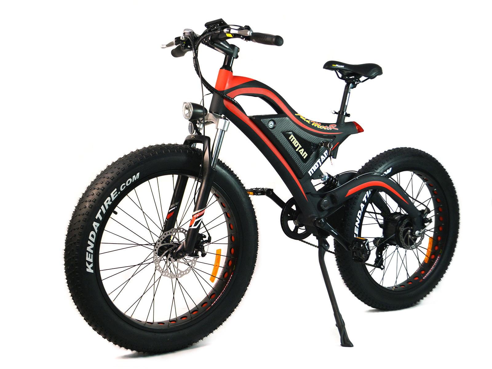 Addmotor MOTAN M-850 Red Fat Tire Fork Suspension E-Bike 500W 48V ...