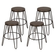 Kate and Laurel Tully Backless Bar Stools Set of 4 by Uniek