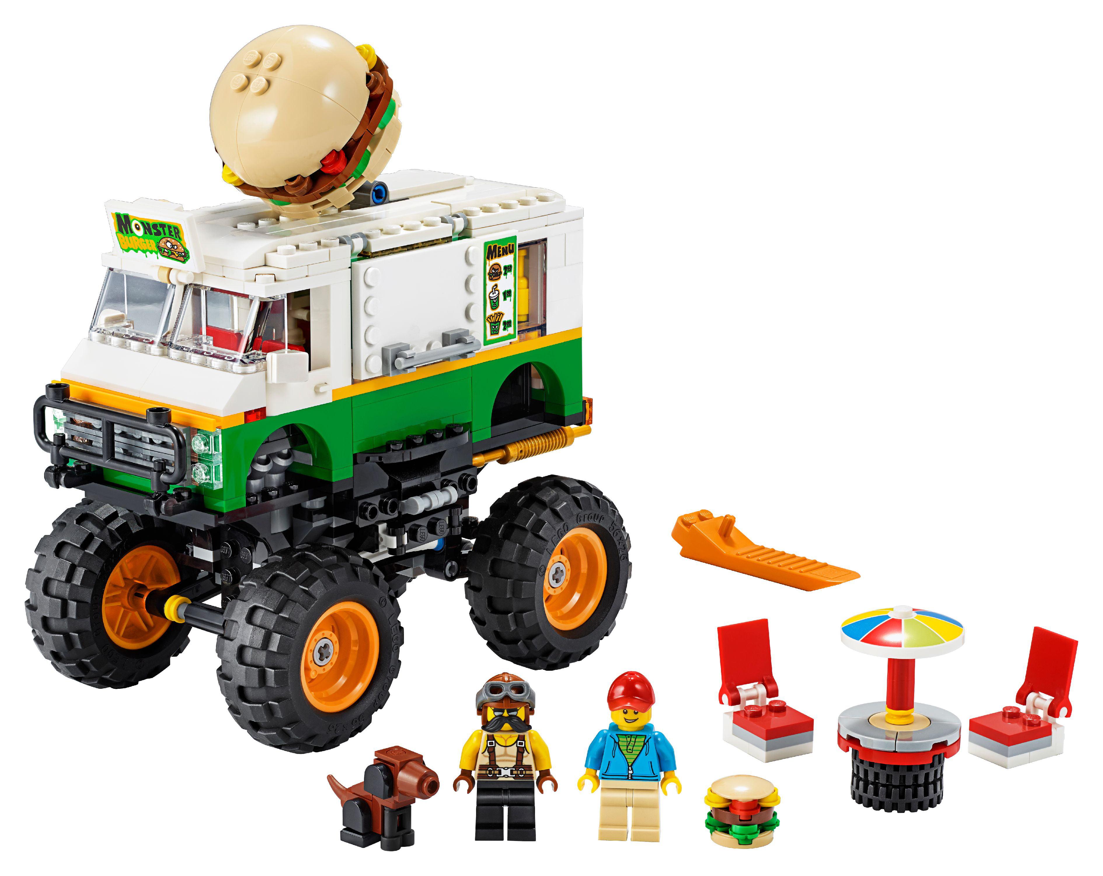 Lego Creator 3in1 Monster Burger Truck 31104 Vehicle Building Kit For Kids 499 Pieces Walmart Com Walmart Com