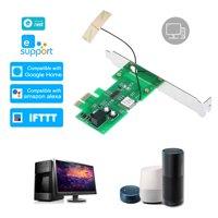 eWeLink Mini PCI-e Desktop PC Remote Control Switch Card WiFi Wireless Smart Switch Relay Module Wireless Restart Switch Turn On/OFF Computer Boot Card for Smart Home