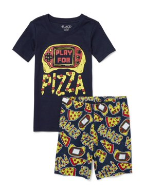 f236290df Product Image The Children's Place Graphic top and sleep short, 2-piece  pajama set (little