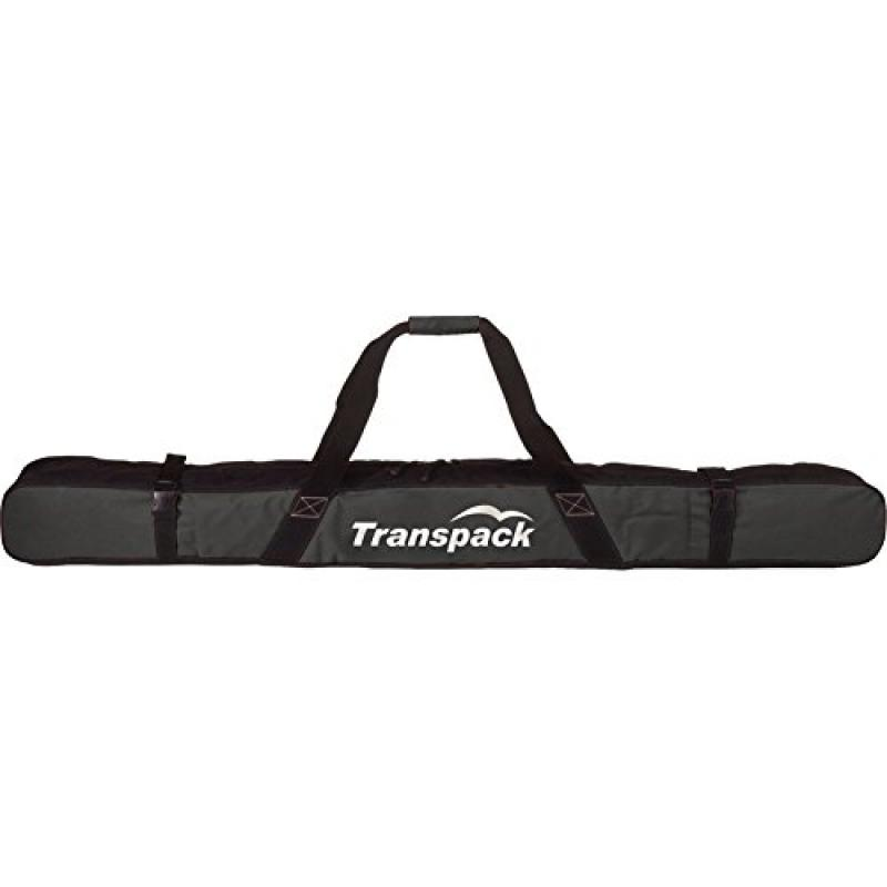Transpack Classic Series Ski Bag Single Pair Carrier Max Ski Size 182 by Transpack