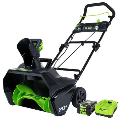 Greenworks 2600402 Pro 80V Cordless Lithium-Ion 20 in. Snow Thrower Kit