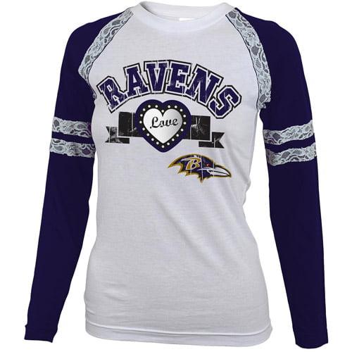 Nfl Girls' Baltimore Ravens Long Sleeve