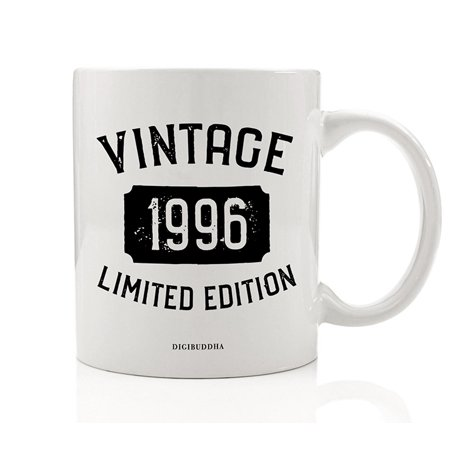 1996 Coffee Mug Born In the Birth Year Vintage Limited Edition Birthday Gift Idea 11oz Ceramic Beverage Tea Cup Great Present for Family Best Friend Office Coworker Fiancé Fiancée Digibuddha