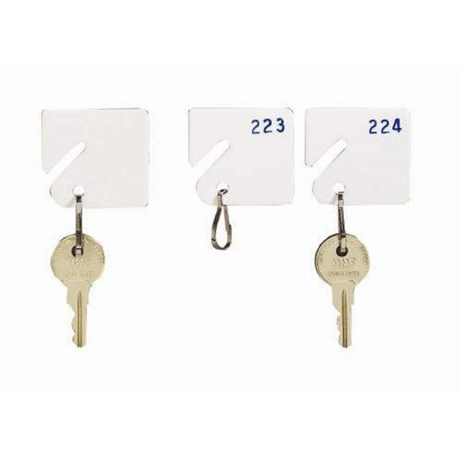 MMF 5313231BB06 Slotted Rack White Key Tags 121 140 Packed 20 Per Pack by MMF