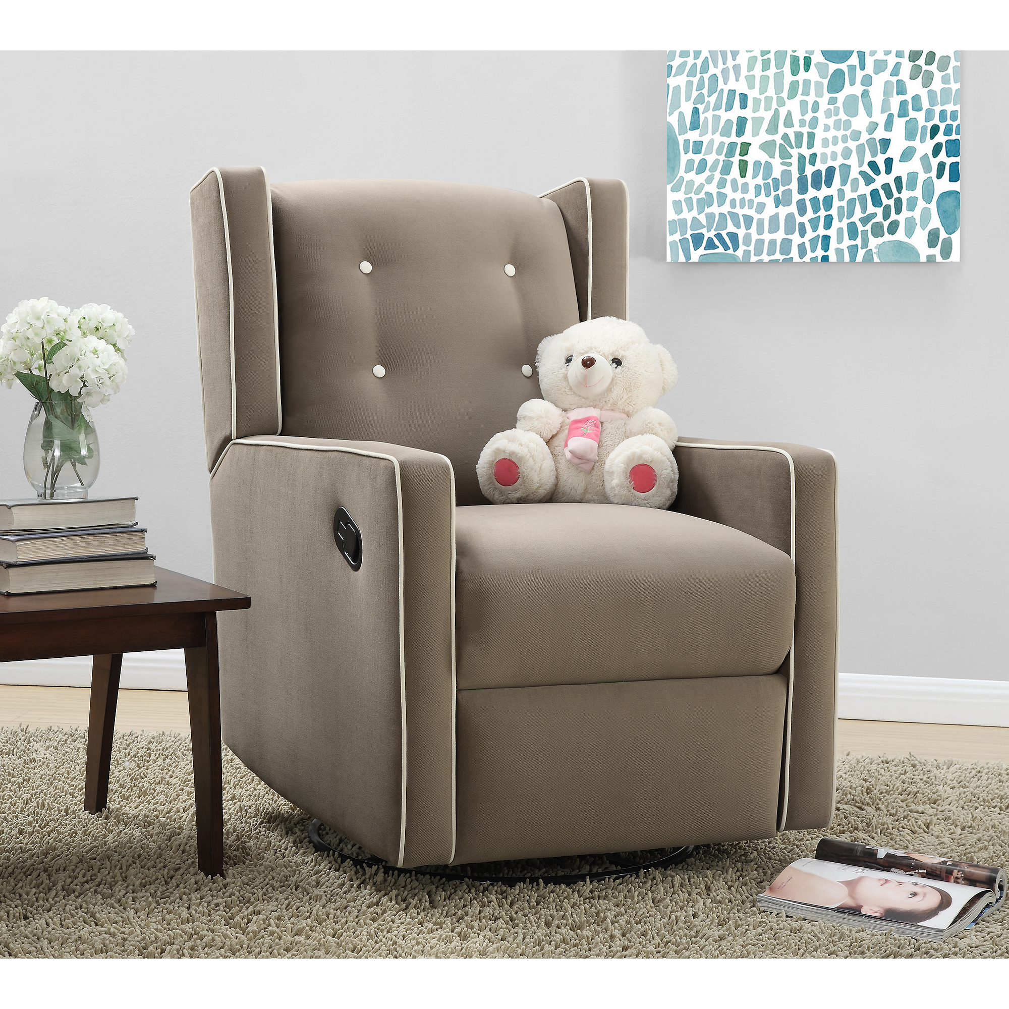 baby relax mikayla swivel gliding recliner choose your color walmartcom