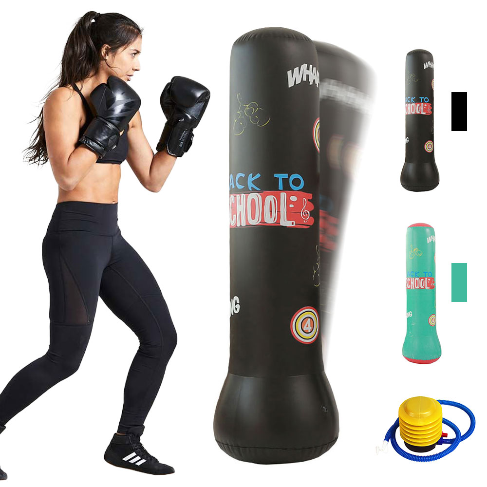 Details about  /Martial Boxing Bag PVC Portable Punching Sandbag Sporting Standing Useful