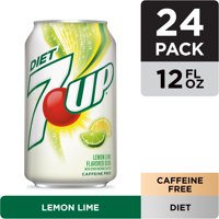 Diet 7UP Lemon Lime Soda, 12 fl oz cans, 24 pack