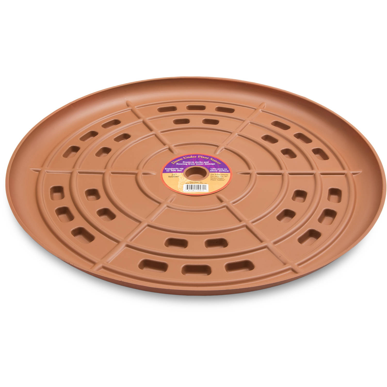 "Down Under Plant Caddie 52130 21"" Terra Cotta Saucer"