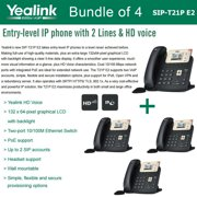 Yealink SIP-T21P E2 4-PACK Entry-level IP phone 2 Lines HD voice PoE LCD