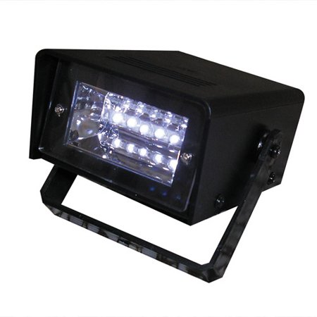 Battery-Operated LED Strobe Light, Black, LED Flashing and strobing. Great for Party, Event, No Wire. Product Size: 2 x 8.75 x 3.75