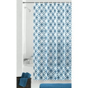 Mainstays Hadley Blue Waterproof PEVA Shower Curtain